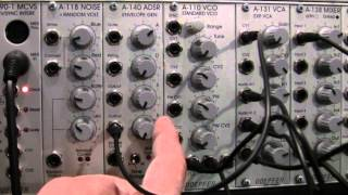 Doepfer A140 ADSR Envelope Generator Part Three-VCO Patch