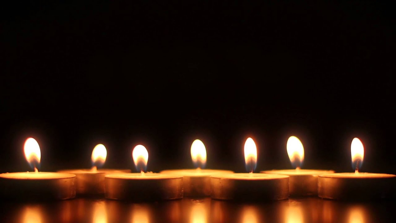7 candles - hd stock footage background loop - youtube