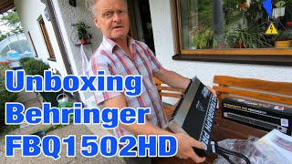 Mein Vater übernimmt Elektrotechnik in 5 Minuten - Unboxing Behringer FBQ1502HD Ultragraph Pro