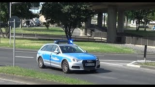 HLF 2 BF Koblenz + FuStW Polizei Koblenz