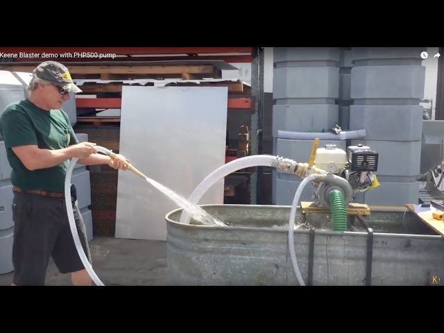 Keene Blaster demo with PHP500 pump