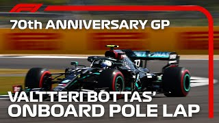 Valtteri Bottas' Pole Lap | 70th Anniversary Grand Prix | Pirelli