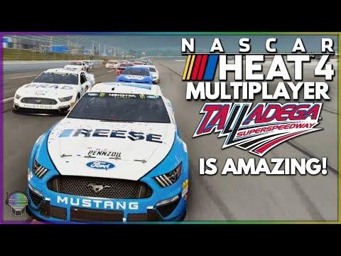 TALLADEGA ONLINE IS THE BEST! | NASCAR Heat 4 Multiplayer