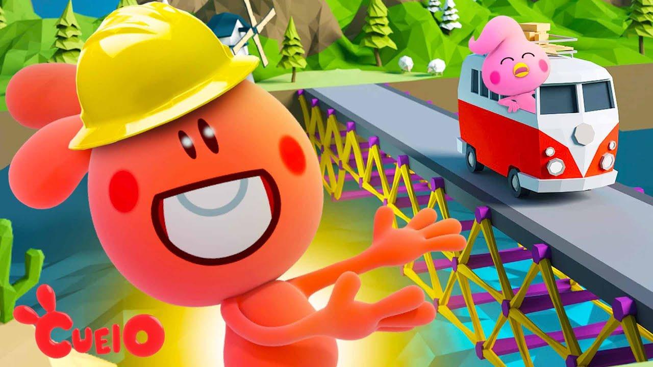 CUEIO CONSTRUINDO PONTES   Simulator Poly Bridge Gameplay Cartoon Character VTuber