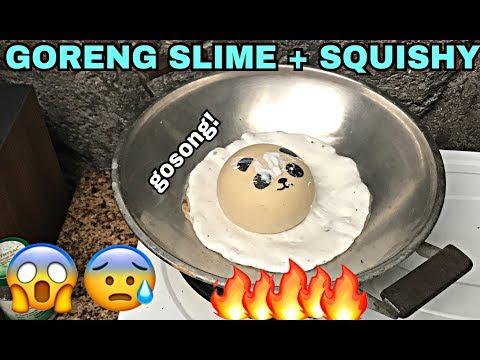 GORENG SLIME + SQUISHY SAMPE GOSONG! EXTREME SLIME + SQUISHY DARES!