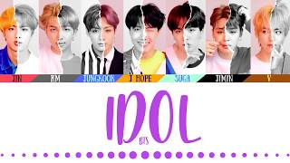 Gambar cover BTS (방탄소년단) - 'IDOL' LYRICS (Color Coded Eng/Rom/Han/가사)(English Translations Official Captions)