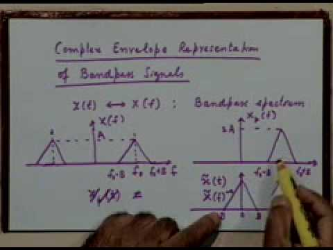 Lecture - 5 Analytic Representation of bandpass Signals