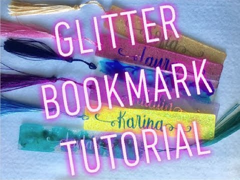 Epoxy Glitter Bookmark Tutorial