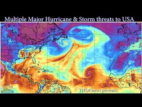 Category 3 Hurricane Irma + Tropical Wave/Storms Jose & Katia & Lidia ALL threats to USA