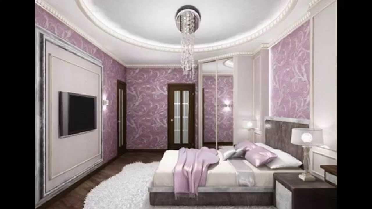 Purple Wallpaper Bedroom Purple Room Wallpaper Decor Ideas Youtube