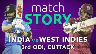 IND v WI, 3rd ODI, Match Story: India clinch a thriller