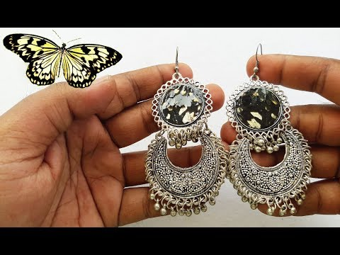 Resin Casting With Butterfly Wings | Resin Casting Earring DIY