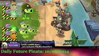 Plants vs Zombies 2 - Pinata 13 10 14 Beach Teaser's Pinata Party Save Our Seed Plants vs Zombies 2