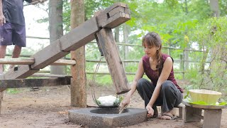 How to make тraditional noodle in my country Cambodia - Polin lifestyle