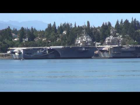 Puget Sound Navy Yard with 4 stored US Carriers@ Bremerton WA 7/6/2013 d
