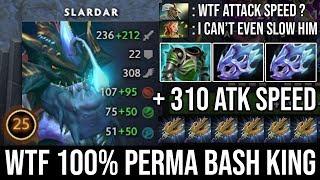 WTF 100% Perma Bash with 310 Attack Speed Even Enchantress Can't Slow Him Rage Slardar - DotA 2