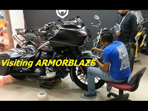 Wrapping A Harley Davidson Road Glide Filmed Entirely