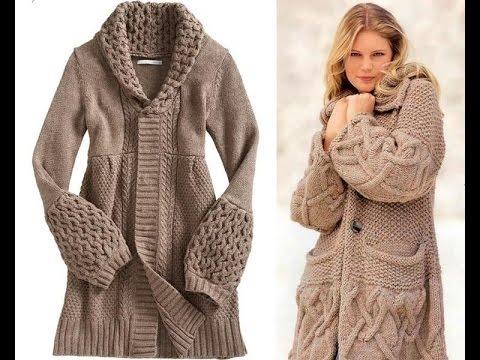 пальто спицами видео 2019 Coats Knitting Needles Video