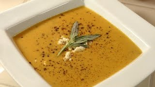 Butternut Squash Soup With Gorgonzola And Sage