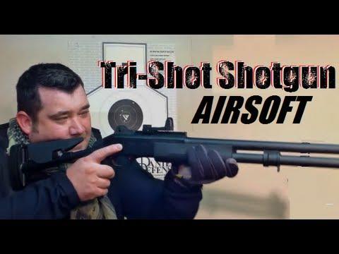 Tri Shot Shotgun Airsoft Review DE M56DL