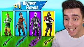 "🍀Die ""GLÜCKS"" SKIN CHALLENGE🍀 in Fortnite Battle Royale!"