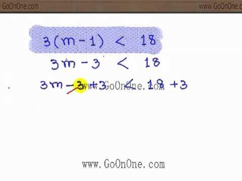 อสมการ เชิงเส้นตัวแปรเดียว EX1