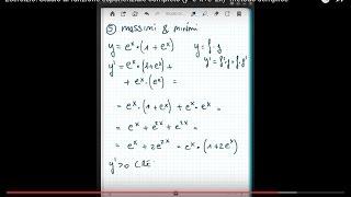 Studio di funzione esponenziale completo (y=e^x+e^2x)