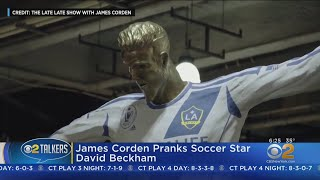 James Corden Pranks David Beckham