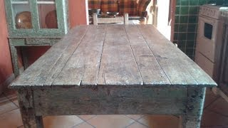 ORIGINAL RUSTIC SMALL KITCHEN TABLE, ANTIQUE