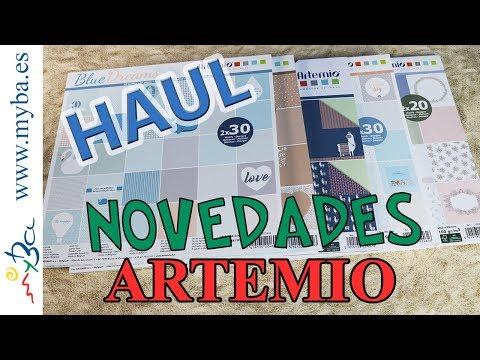 Haul Novedades Artemio. Nuevas colecciones de papeles decorados para scrap, manualidades, home deco.