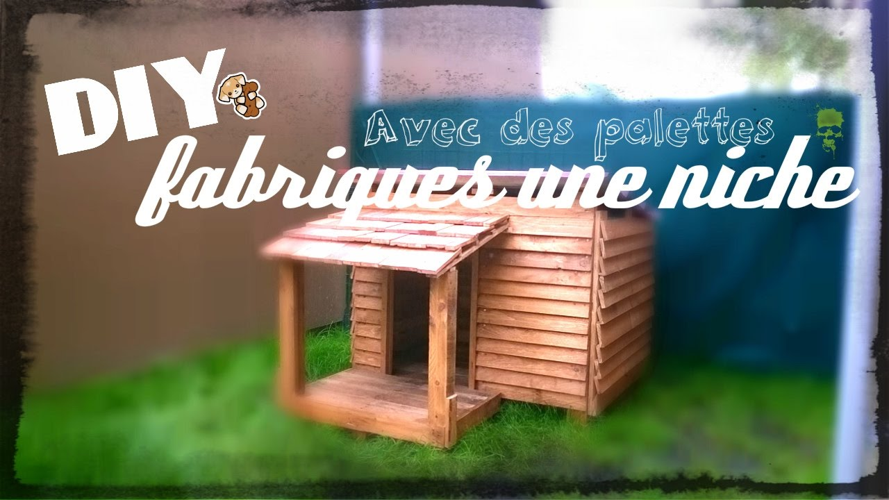 bricolage niche en palette kennel out of pallets caseta para perro con palets youtube. Black Bedroom Furniture Sets. Home Design Ideas