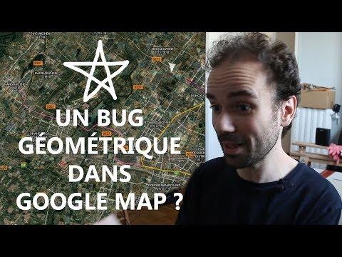 Un bug géométrique dans Google Map ? - Micmaths