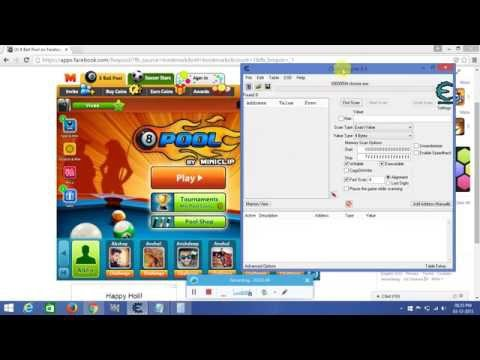 How to hack 8 ball pool with cheat engine 6.4