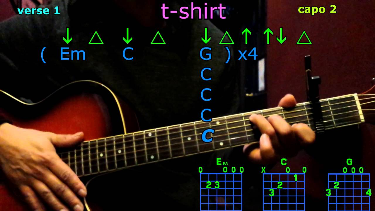 T Shirt Thomas Rhett Guitar Chords Youtube