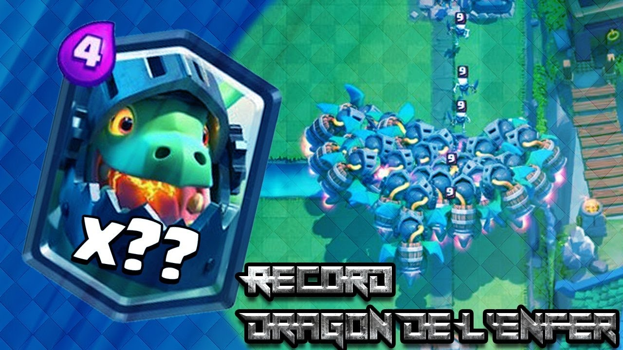 Clash Royale Dragon de l enfer = Record du monde de Dragon de L enfer