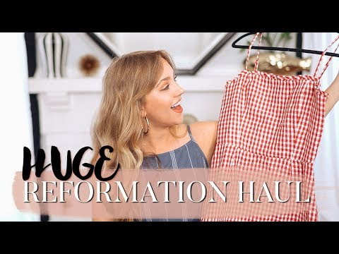 Reformation Fashion Haul & Try-On