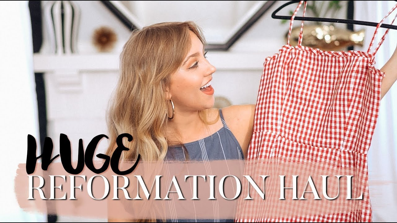 e21d7405f67 Reformation Fashion Haul   Try-On - YouTube