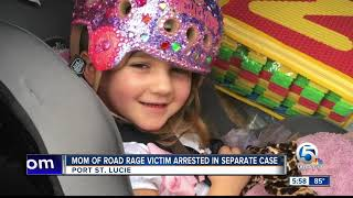 Mother of girl who was shot during road rage incident is arrested over unrelated gun incident