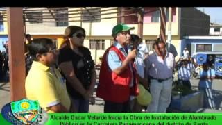 Municipalidad de Santa - Alumbrado Público Panamericana Norte en Santa