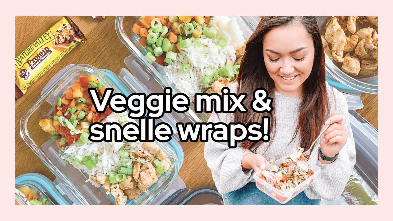 Meal Prep With Me! Kant-en-klare groentemix met kip en snelle wraps