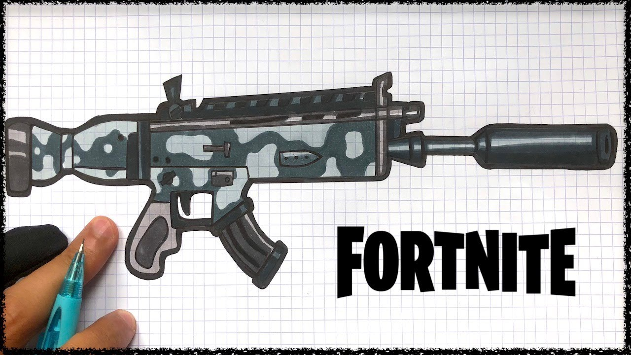 How To Draw Suppressed Scar Fortnite