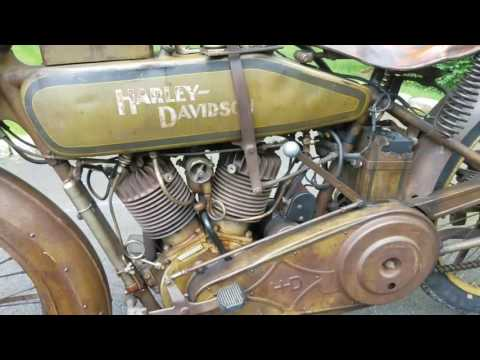 Original paint 1918 Harley classic motorcycle
