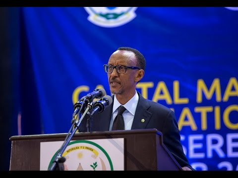President Kagame at East African Capital markets conference- Kigali, 12 February 2015