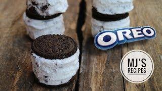 OREO ICE CREAM SANDWICH - Only 2 ingredients!