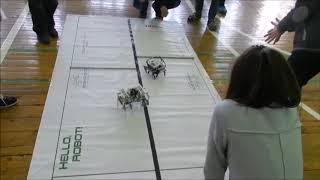 Шагающие роботы Роболига-2017(Уфа)