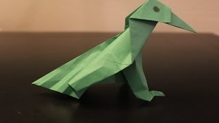 How To Make A Paper Bird (crow) - Origami