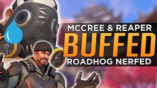 Overwatch: Roadhog NERFED! - McCree And Reaper BUFFED!