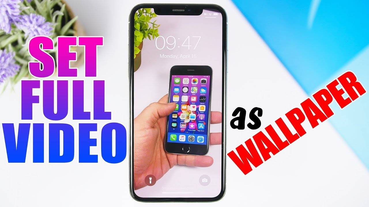 Set Full Video As A Wallpaper On Your Iphone Youtube