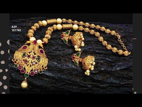 Exclusive Designer 1 Gram Gold Jewellery Designs Part 77