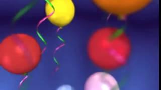 Скачать футаж шарики с Днём Рождения - заставка